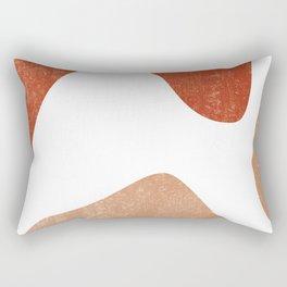 Terracotta Art Print 7 - Terracotta Abstract - Modern, Minimal, Contemporary Print - Burnt Orange Rectangular Pillow