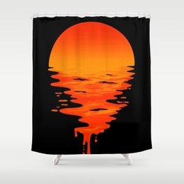 Melting Sun Shower Curtain