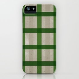 Evergreen Cozy Cabin Plaid iPhone Case