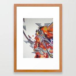 DKG swallows detail Framed Art Print