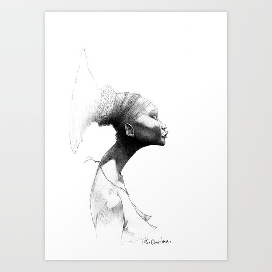 Afro Art Print