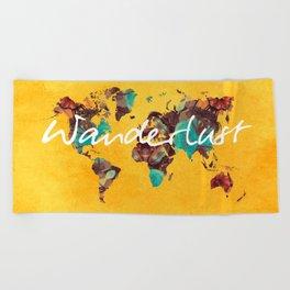 world map 123 wanderlust #wanderlust #map Beach Towel