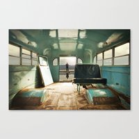 door Canvas Prints featuring Emergency Door by Rachel Bellinsky