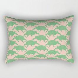 Armadillos All Around green Rectangular Pillow