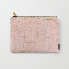 Pink and gold Chiang Mai map, Thailand Carry-All Pouch