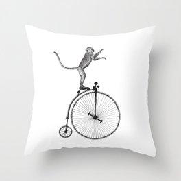 bike monkey 3 Throw Pillow