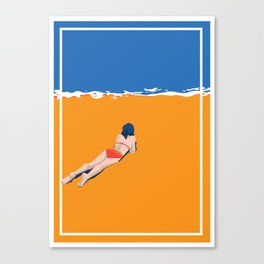 Tide on the Beach Canvas Print