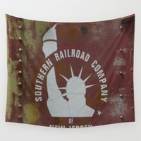 new jersey Wall Tapestries featuring SRC New Jersey by Groovyal