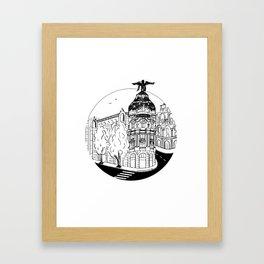 Memories of Madrid Framed Art Print