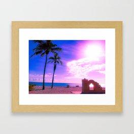 Fort Lauderdale Beach Glows Framed Art Print