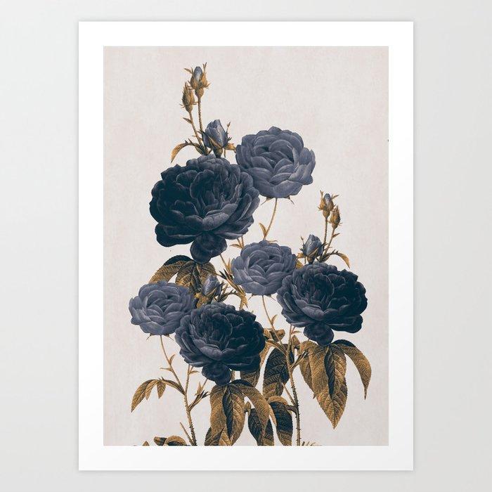 blue flowers Kunstdrucke