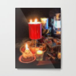 Candle Still Life Metal Print
