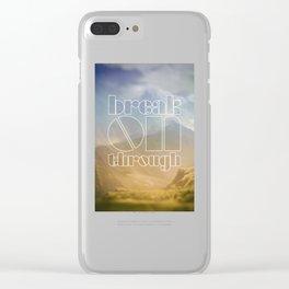 Break On Through Clear iPhone Case