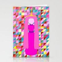 princess bubblegum Stationery Cards featuring PRINCESS BUBBLEGUM by Andrew Inc.