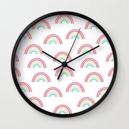 Rainbow pattern cute decor for kids room or nursery Wall Clock