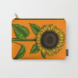 Sunflower on orange Carry-All Pouch