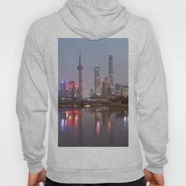 Shanghai sunset with Waibaidu Hoody