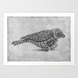 Clockwork Bird  Art Print