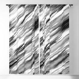 Black and White Painted Tie Dye Multi Media Cool Texture Trending Popular Modern Blackout Curtain