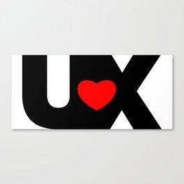 I Love UX Canvas Print