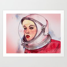 Astronaut Girl Art Print