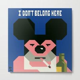 Mickey and his midlife. Metal Print