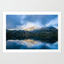 Lago del Narét Mountain Lake Art Print