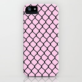 Chain Link Black on Blush iPhone Case