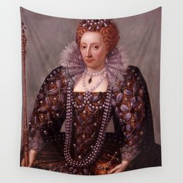 Portrait of Queen Elizabeth I Wall Tapestry
