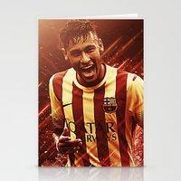 neymar Stationery Cards featuring Neymar Jr  by Max Hopmans / FootWalls