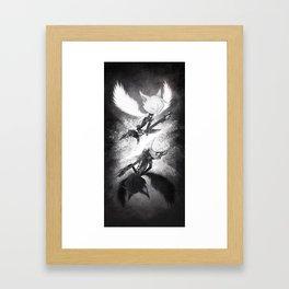 Angel and Devil Framed Art Print