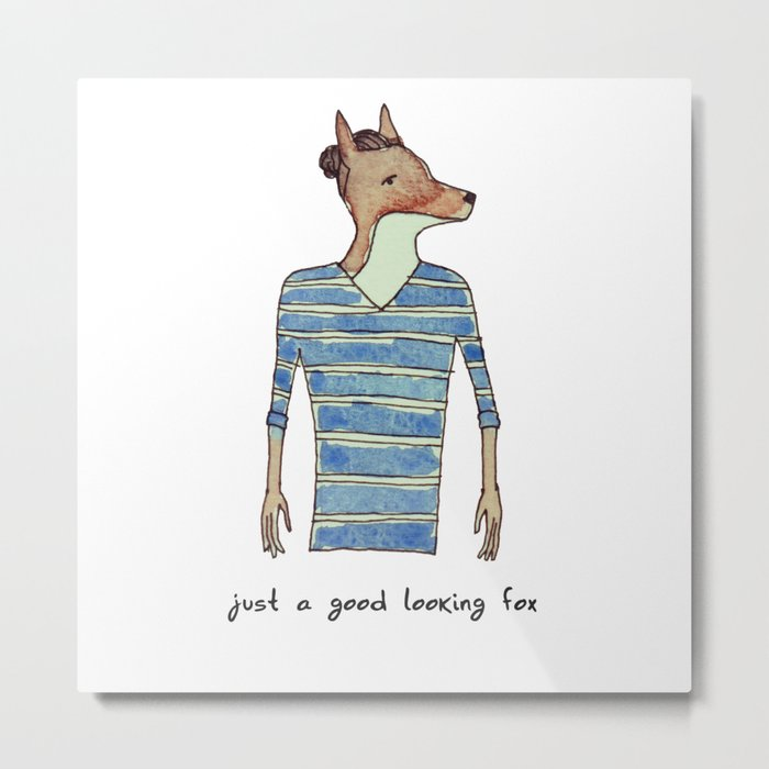 Good looking fox Metal Print
