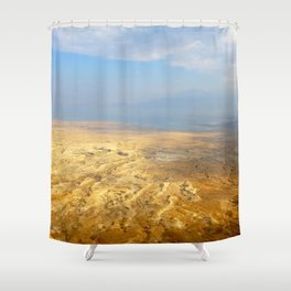 Vast Desert Landscape with Mountains in the Distance Shower Curtain
