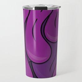 Psychedelic Typography Design Melting Purple Travel Mug