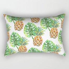 Monstera Pineapple Rectangular Pillow
