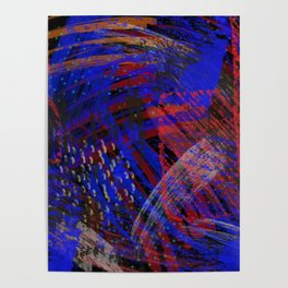 Abstract blue background Poster