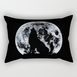 Wolf And Moon Rectangular Pillow