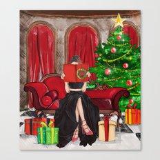 The Christmas Book Canvas Print