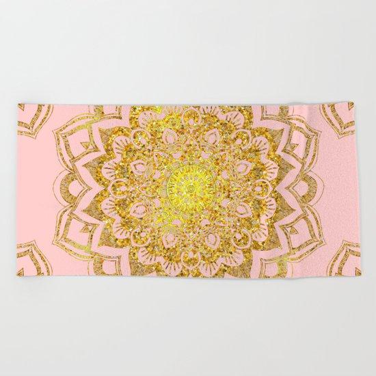 Golden Mandala i Beach Towel