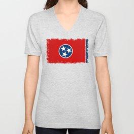 Tennessee State flag Unisex V-Neck