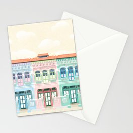 Singapore Shophouses Stationery Cards
