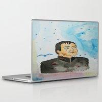 crowley Laptop & iPad Skins featuring supernatural crowley by meldemirci