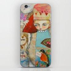 Your story matter - girl and bird inspirational art iPhone & iPod Skin