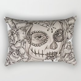 Roses of the Dead Rectangular Pillow