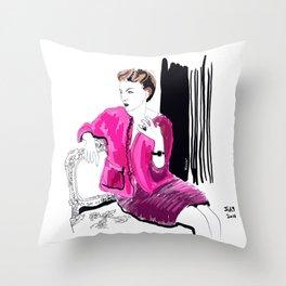 Fashion illustration. Barocco Throw Pillow