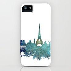 Paris skyline wind rose iPhone SE Slim Case