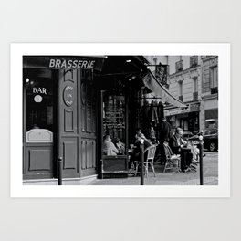 At the Brasserie Art Print
