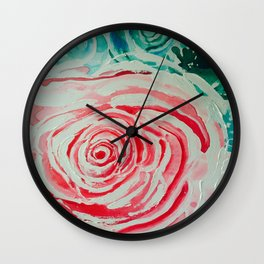 Where the Pink Roses Grow, Summer is Ending and Romantic Fall Nights are Here Wall Clock