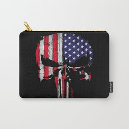 American flag Skull Carry-All Pouch