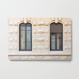 Two thin classic windows in France Metal Print